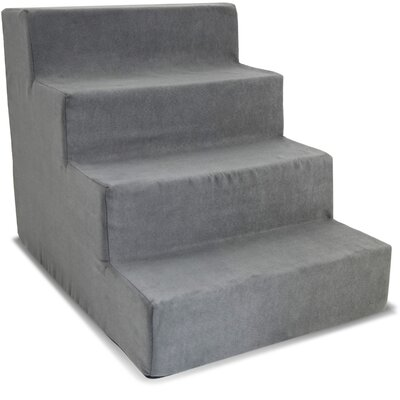 High Density Foam Stairs 21 Pet Ramp Color: Gray