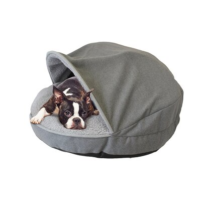 Precious Tails Hooded/Dome Dog Bed Size: 8 H x 35 W x 35 D, Color: Gray