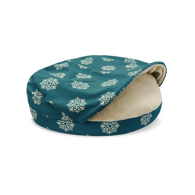 Precious Tails Hooded/Dome Dog Bed Color: Teal, Size: Medium (35 L x 35 W)