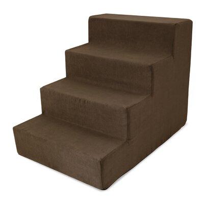 High Density Foam Stairs 21 Pet Ramp Color: Brown
