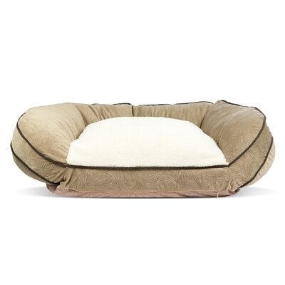 Orthopedic Crescent Curved Pet Bed Color: Taupe, Size: 11.5 H x 40 W x 29 D