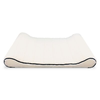 Sherpa Top Memory Foam Orthopedic Contoured Lounger Bolster Dog Bed Color: Ivory