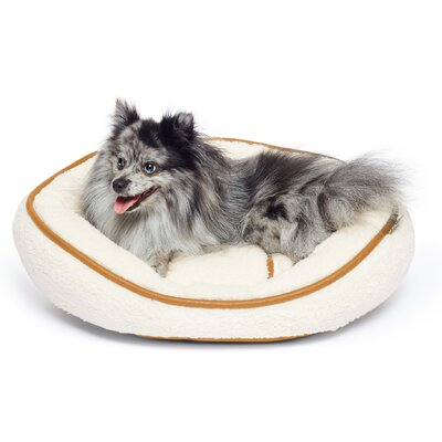 Sherpa Round Cuddler Pet Bed Color: Ivory/Beige