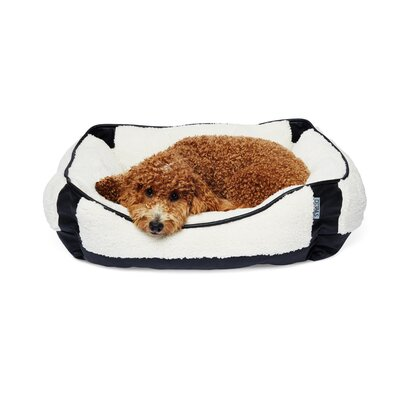 Sherpa Rectangular Cuddler Pet Bolster Color: Black/Ivory