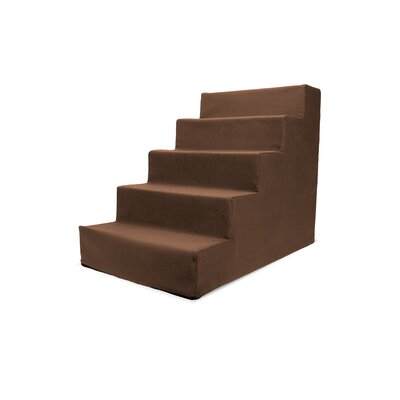Homebase High Density Foam 5 Step Pet Stair Color: Brown