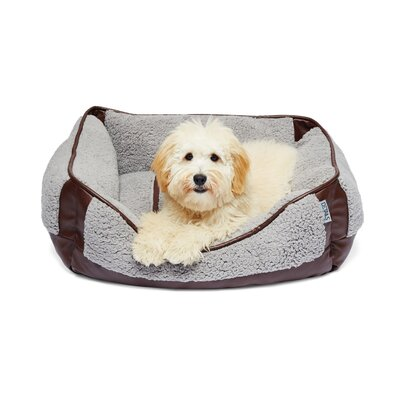 Sherpa Rectangular Cuddler Pet Bolster Color: Brown/Gray
