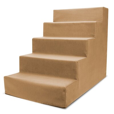 Homebase High Density Foam 5 Step Pet Stair Color: Camel Beige