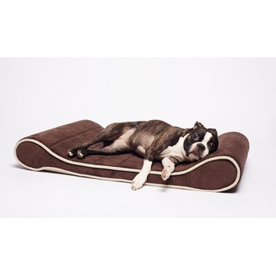 Restology Orthopedic Memory Foam Contour Lounger Mat Color: Brown