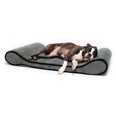 Restology Orthopedic Memory Foam Contour Lounger Mat Color: Gray