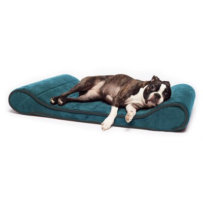 Restology Orthopedic Memory Foam Contour Lounger Mat Color: Teal