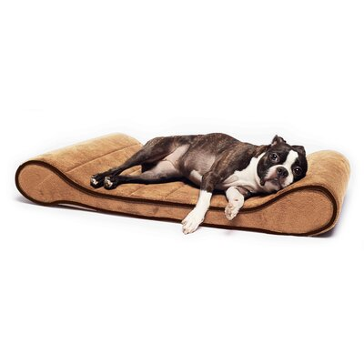 Restology Orthopedic Memory Foam Contour Lounger Mat Color: Tan