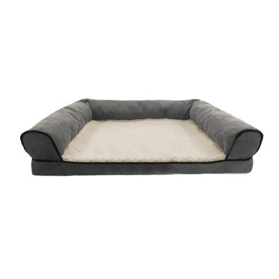 Restology Orthopedic Pet Bolster Color: Gray