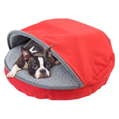 Felt Cave Hooded Bed Color: Red