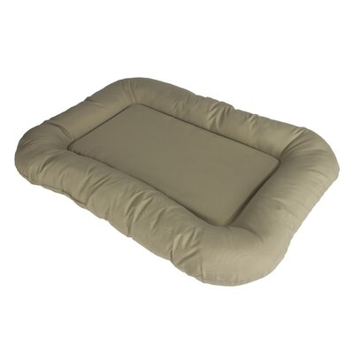 Water Resistant Bolster with High Density Foam Size: 36 H x 27 W x 4 D, Color: Mocha