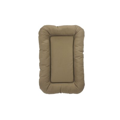 Water Resistant Bolster with High Density Foam Size: 36 H x 27 W x 4 D, Color: Khaki