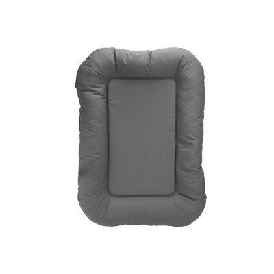 Water Resistant Bolster with High Density Foam Size: 30 H x 20 W x 4 D, Color: Gray