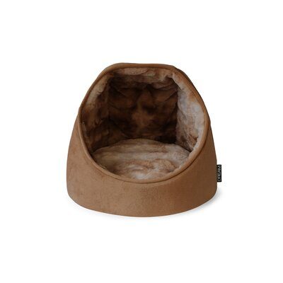 Dream Mink Hut Hooded with Soft Foam Color: Brown