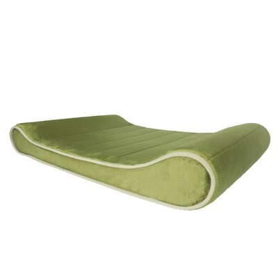 Restology Orthopedic Memory Foam Contour Lounger Mat Color: Sage