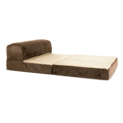 Laskey Dog Pad Color: Mocha, Size: 9 H x  28 W x 42 D