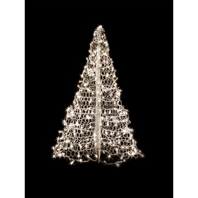 Crab Pot Christmas Tree with 280 LED Mini Lights Color: White