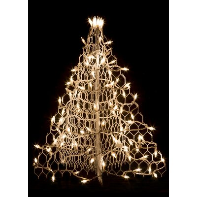 Crab Pot Christmas Tree with 100 Incandescent Mini Lights
