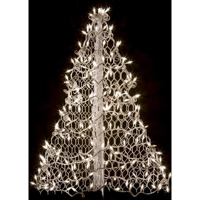 Crab Pot Christmas Tree with 160 LED Mini Lights Wire Color: White