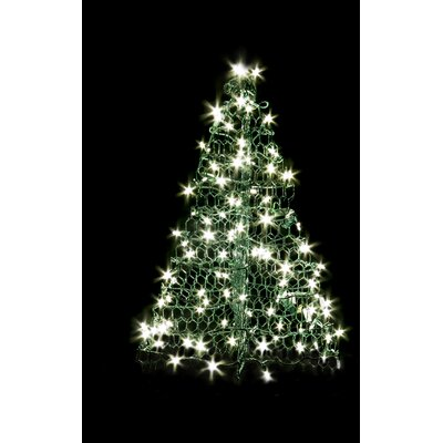 Crab Pot Christmas Tree with 160 LED Mini Lights Wire Color: Green