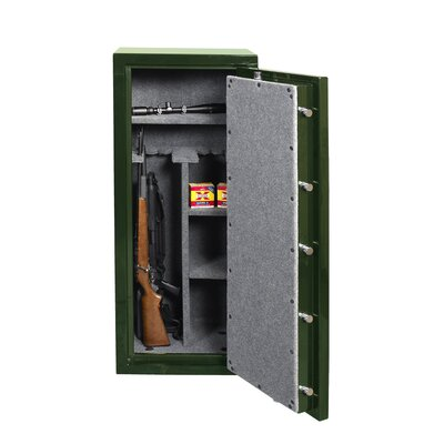 24 W High Gloss Gun Safe Color: Black Product Picture 1675