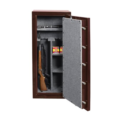 24 W High Gloss Gun Safe Color: Maroon 964 Product Photo