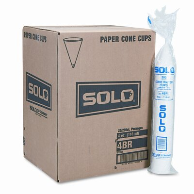 Company Cone Water Cups, 25 Bags of 200/Carton SCC4BRCT