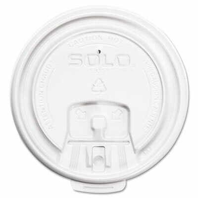 SOLO Cup Company Hot Cup Lids, White, 1000/Carton SCCLB3081