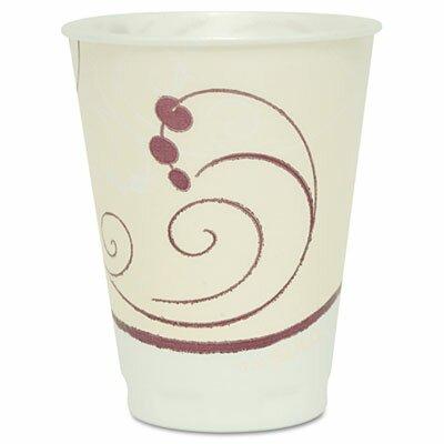 Company Symphony Design Trophy Foam Hot/Cold Drink Cups, 12 Oz, 100/Pack SCCX12J8002PK