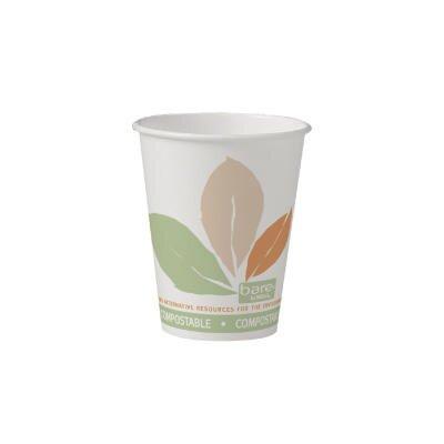 8 Oz Bare Eco-Forward Paper Hot Cups Bare Design SCC378PLABB