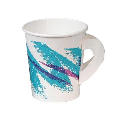 Jazz Hot Paper Cups with Handles Jazz Design SCC376HJZJ