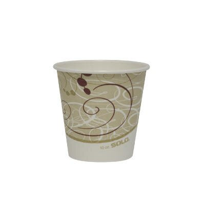 Polylined Paper Hot Cup Symphony Design in Beige / White SCC410SMSYM
