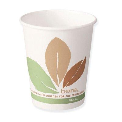 12 Oz Bare Eco-Forward Paper Hot Cups SCC412PLNJ7234
