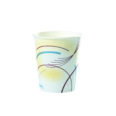 Paper Water Cups Meridian Design in Multicoloured SCC52MD