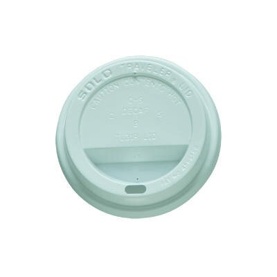 10 oz Cups Traveller Drink-Through Lids in White TL31R2