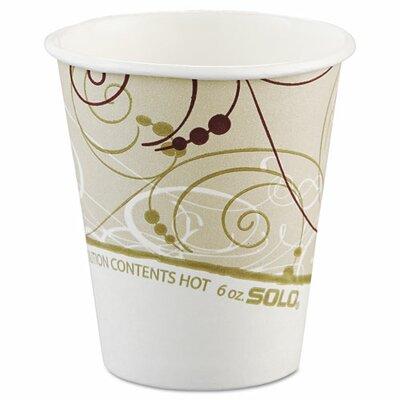 Symphony 6 oz. Paper Hot Cups SCC376SMSYM