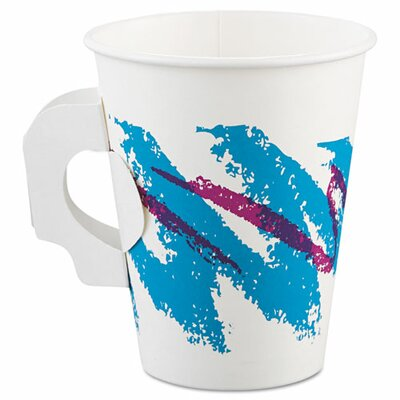 Jazz 8 oz. Hot Paper Cup with Handle SCC378HJZJ