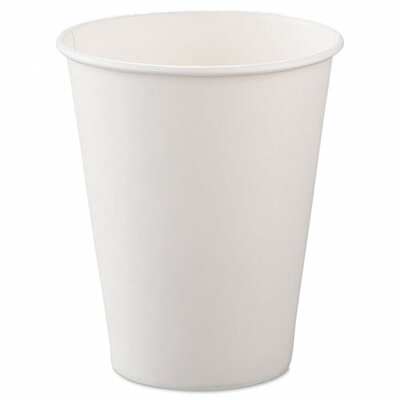 SOLO Cup Company Single-Sided Poly Paper Hot Cups, 8oz, White, 50/Bag, 20 Bags/Carton SCC378W2050