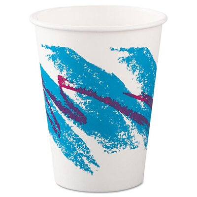 SOLO Cup Company Jazz Paper Hot Cups, 12oz, Polycoated, 50/Bag, 20 Bags/Carton SCC412JZJ