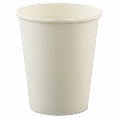 SOLO Cup Company Uncoated Paper Cups, Hot Drink, 8oz, White, 1000/Carton SCCU508NU