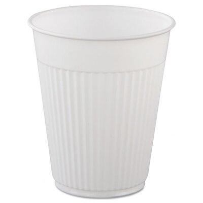 SOLO Cup Company Plastic Medical & Dental Cups, 5 oz, White, Fluted, 1000 Cups/Carton SCCMWPCF5