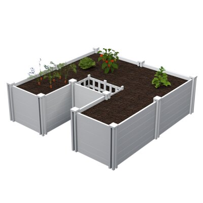 6 ft x 6 ft Keyhole Composting Plastic Raised Garden
