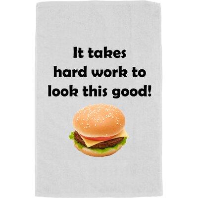 Personalized Hard Work Bath Towel