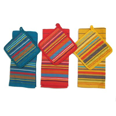 12 Piece Striped Cotton Towel Set