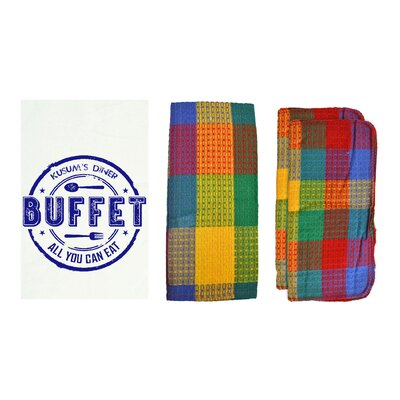 Personalized Buffet 8 Piece Dish Towel Set Color: Rainbow W85002+-Rainbow