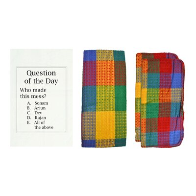 Personalized Question of the Day 8 Piece Dish Towel Set Color: Rainbow W85005+-Rainbow