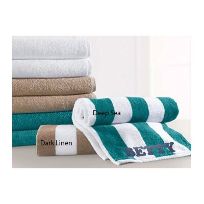 Monogrammed Splash Beach Towel Color: Dark Linen